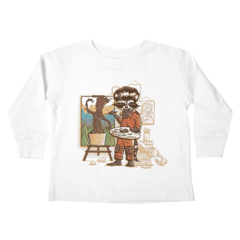 Happy Little Groots Kids Toddler Longsleeve T-Shirt by Taylor Rose Makes Art
