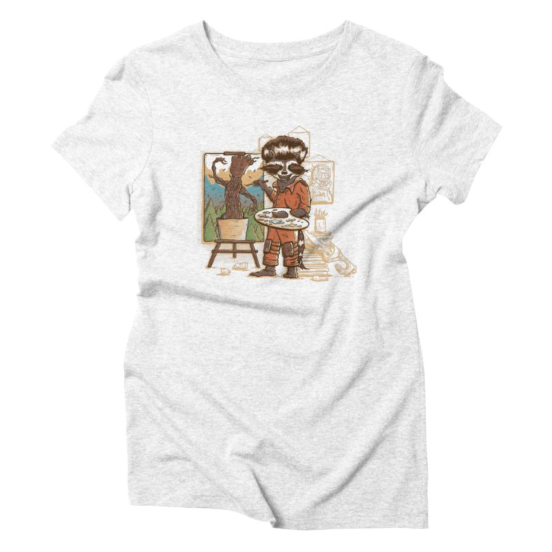 Happy Little Groots Women's Triblend T-shirt by Taylor Rose Makes Art