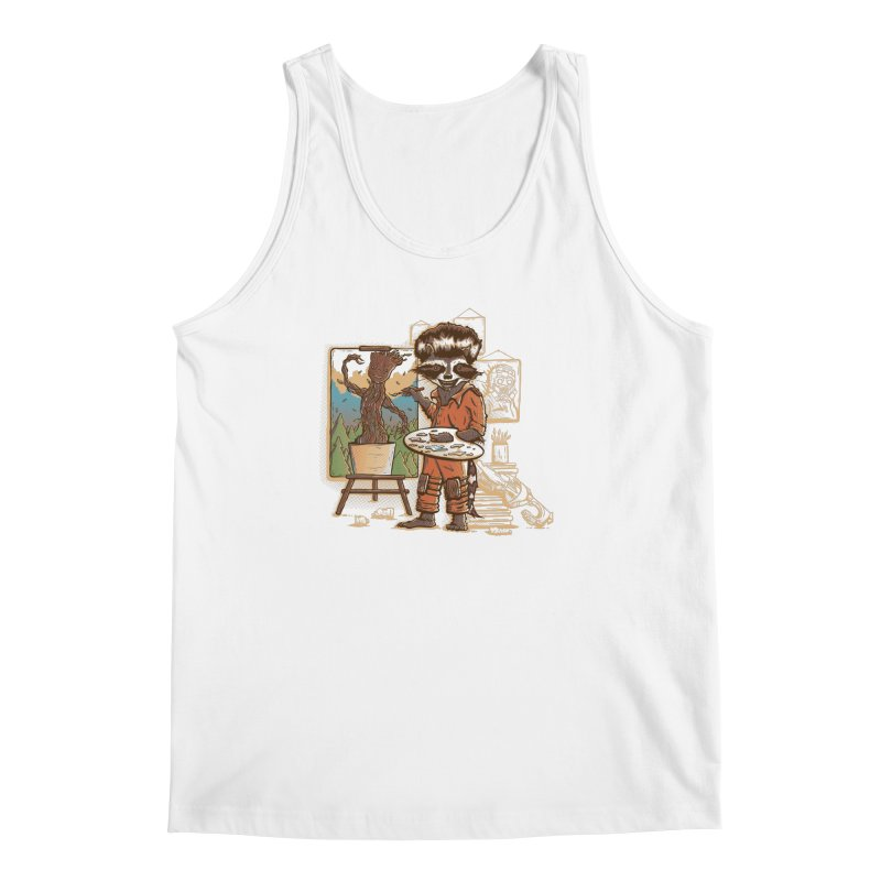 Happy Little Groots Men's Tank by Taylor Rose Makes Art