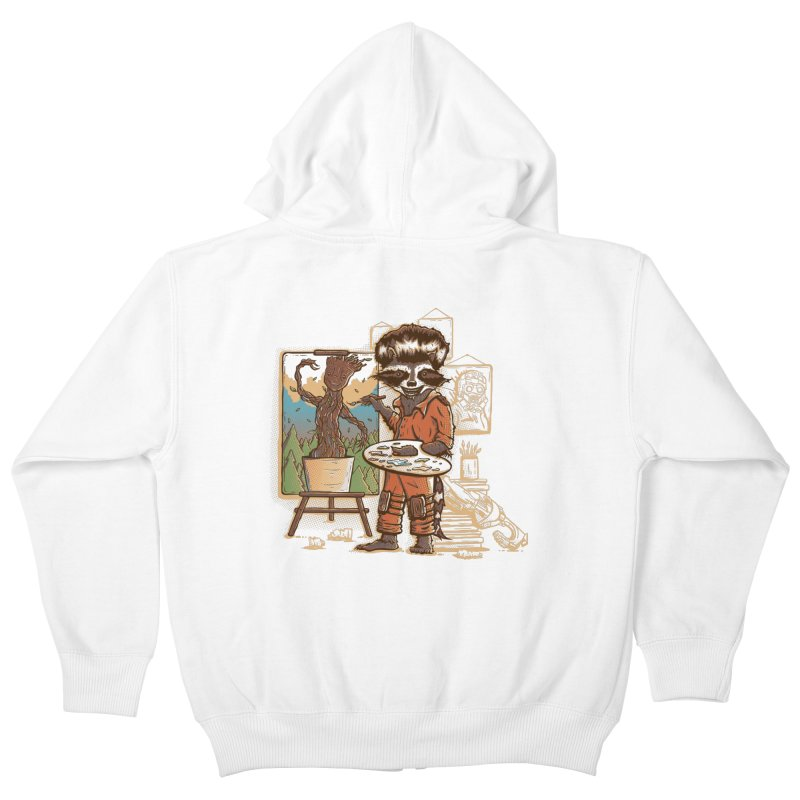 Happy Little Groots Kids Zip-Up Hoody by Taylor Rose Makes Art