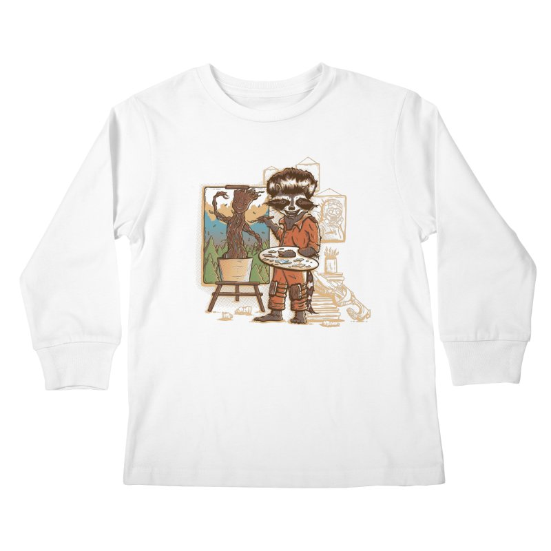 Happy Little Groots Kids Longsleeve T-Shirt by Taylor Rose Makes Art