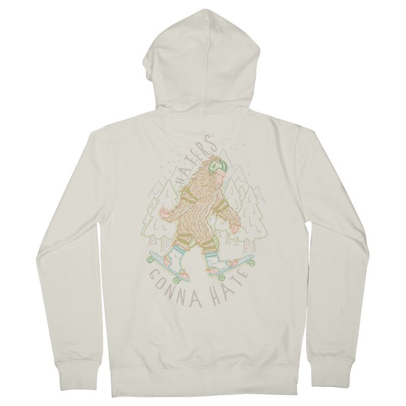 Haters Gonna Hate Men's Zip-Up Hoody by Taylor Rose Makes Art