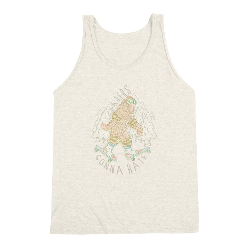 Haters Gonna Hate Men's Triblend Tank by Taylor Rose Makes Art