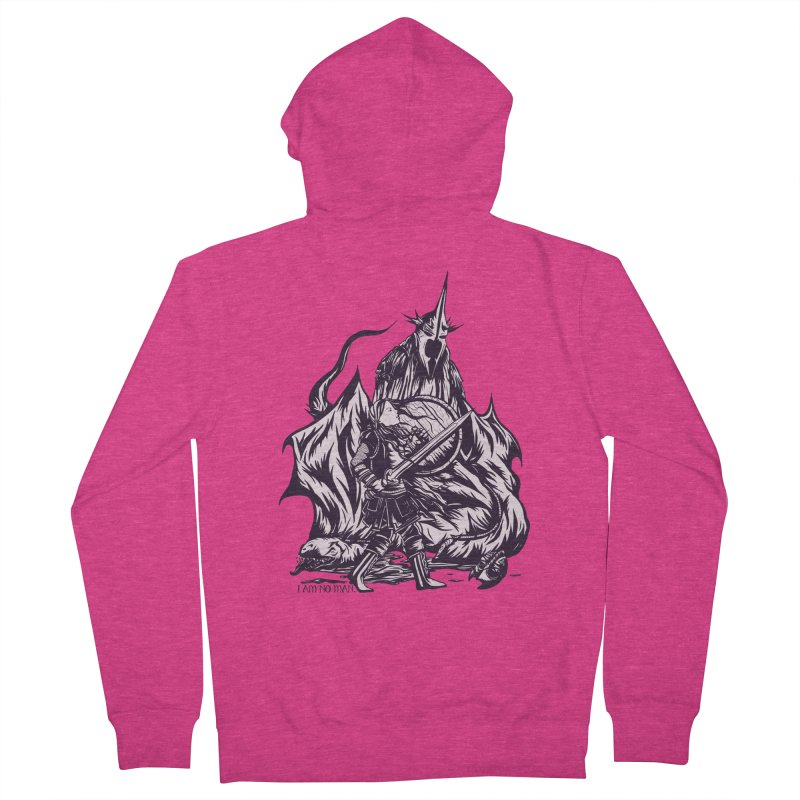 I Am No Man Women's Zip-Up Hoody by Taylor Rose Makes Art