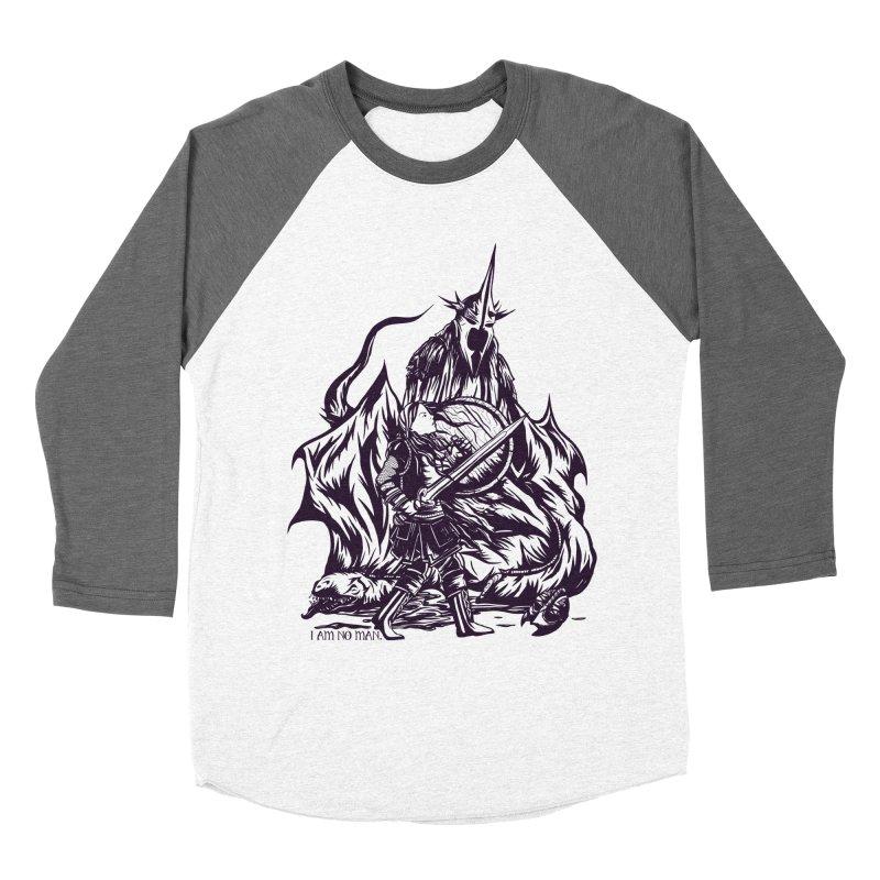 I Am No Man Women's Baseball Triblend T-Shirt by Taylor Rose Makes Art
