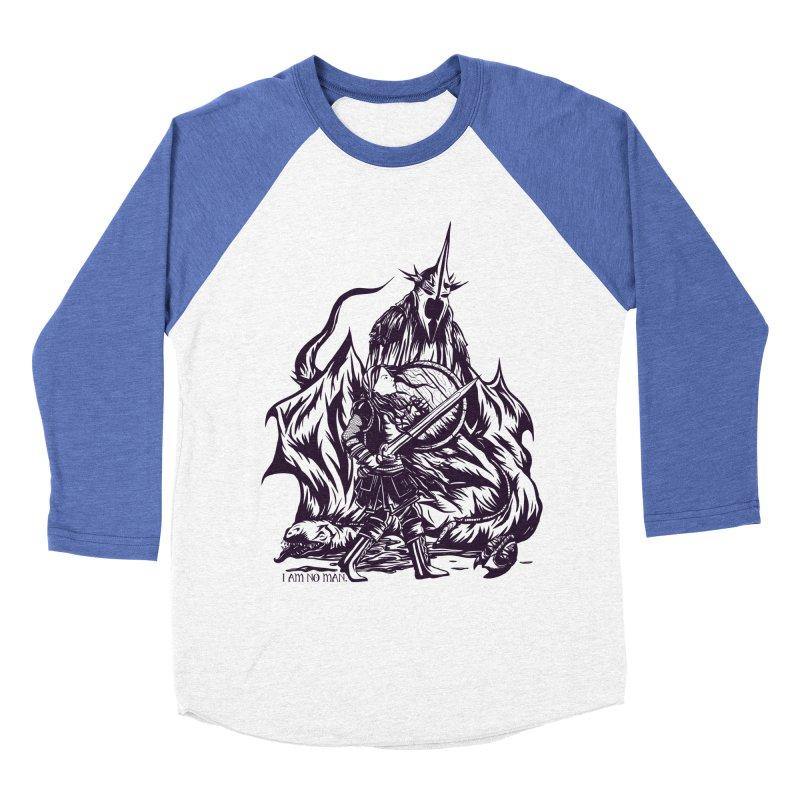 I Am No Man Men's Baseball Triblend T-Shirt by Taylor Rose Makes Art