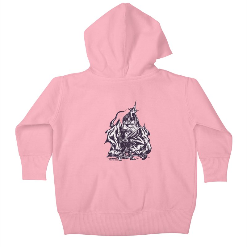 I Am No Man Kids Baby Zip-Up Hoody by Taylor Rose Makes Art