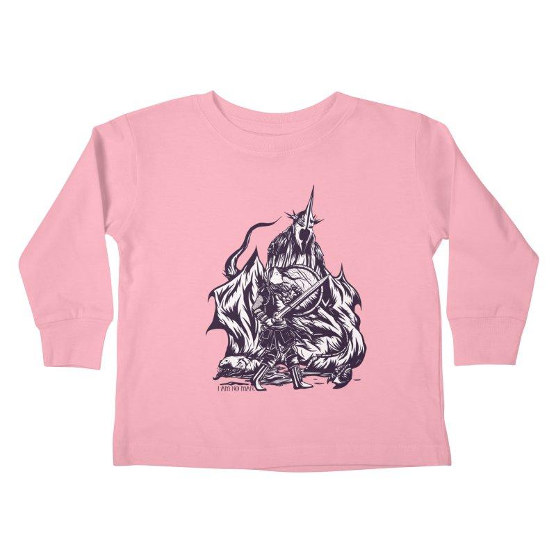 I Am No Man Kids Toddler Longsleeve T-Shirt by Taylor Rose Makes Art