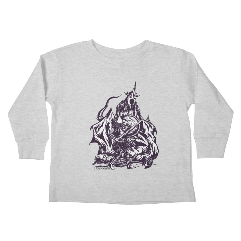 I Am No Man Kids Toddler Longsleeve T-Shirt by Taylor Rose Makes Art