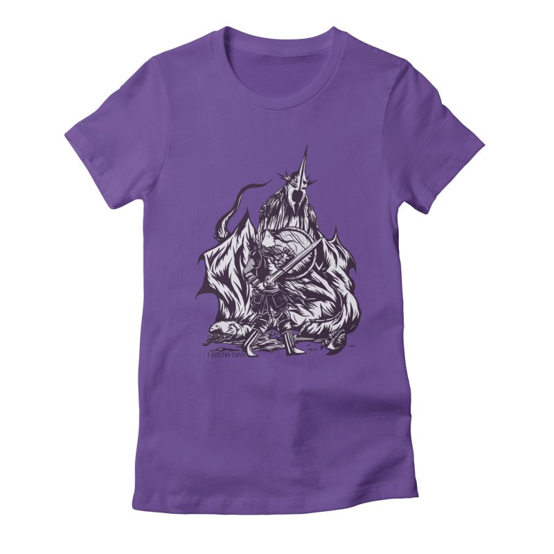 I Am No Man Women's Fitted T-Shirt by Taylor Rose Makes Art