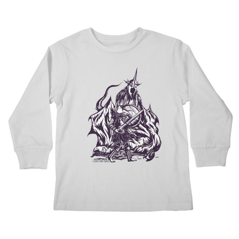 I Am No Man Kids Longsleeve T-Shirt by Taylor Rose Makes Art