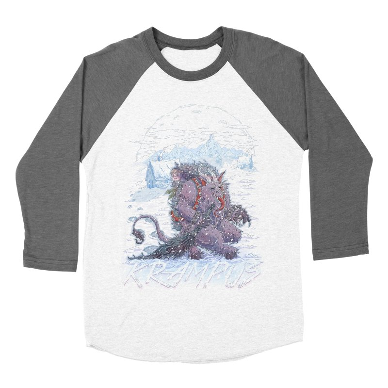 Krampus Men's Baseball Triblend T-Shirt by Taylor Rose Makes Art
