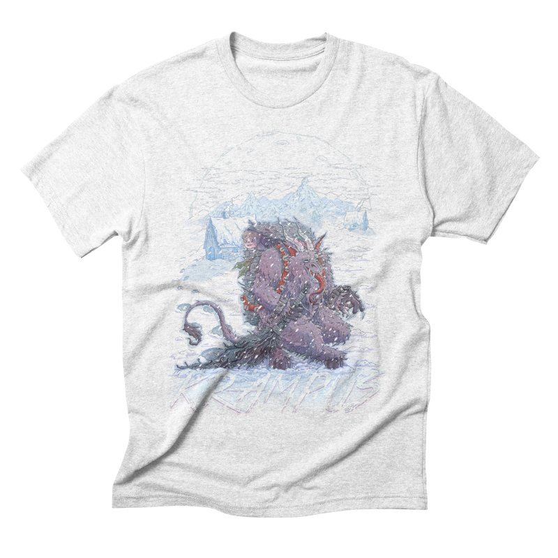 Krampus Men's Triblend T-shirt by Taylor Rose Makes Art