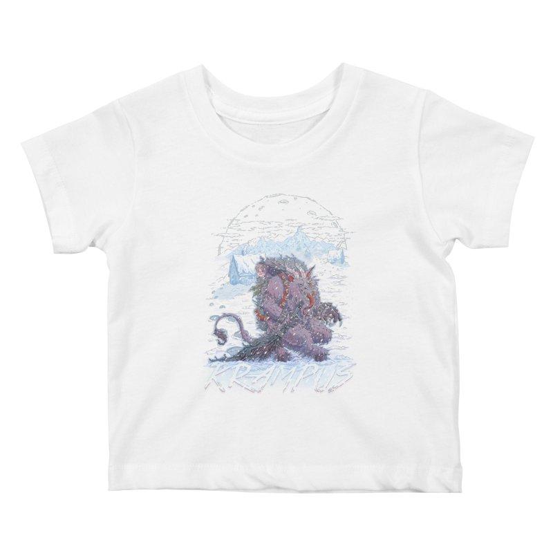 Krampus Kids Baby T-Shirt by Taylor Rose Makes Art