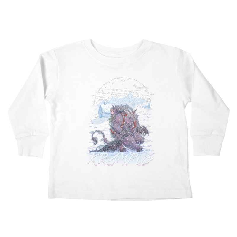 Krampus Kids Toddler Longsleeve T-Shirt by Taylor Rose Makes Art