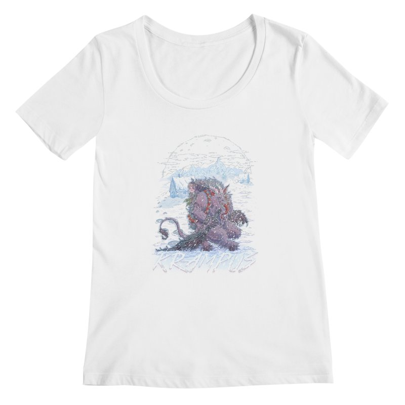 Krampus Women's Scoopneck by Taylor Rose Makes Art