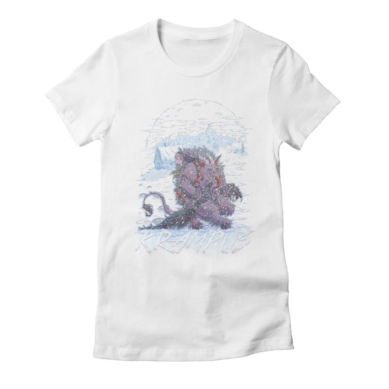 Krampus Women's Fitted T-Shirt by Taylor Rose Makes Art