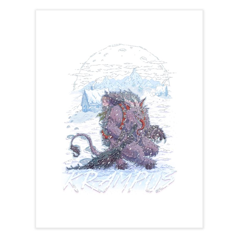 Krampus Home Fine Art Print by Taylor Rose Makes Art