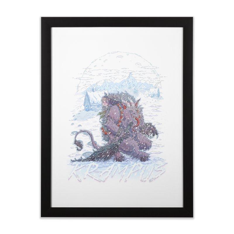 Krampus Home Framed Fine Art Print by Taylor Rose Makes Art
