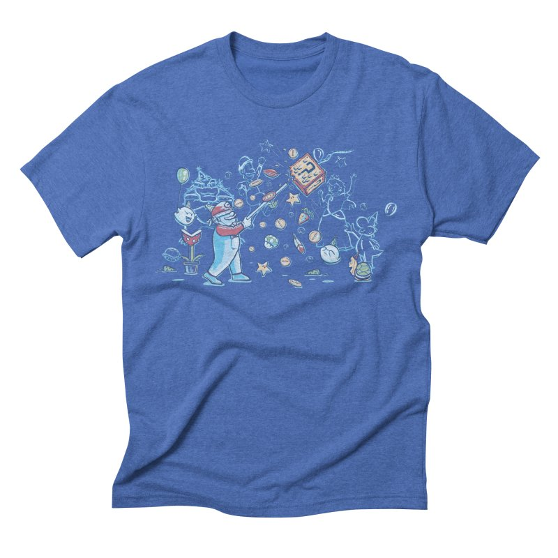 Mario Party Men's Triblend T-shirt by Taylor Rose Makes Art