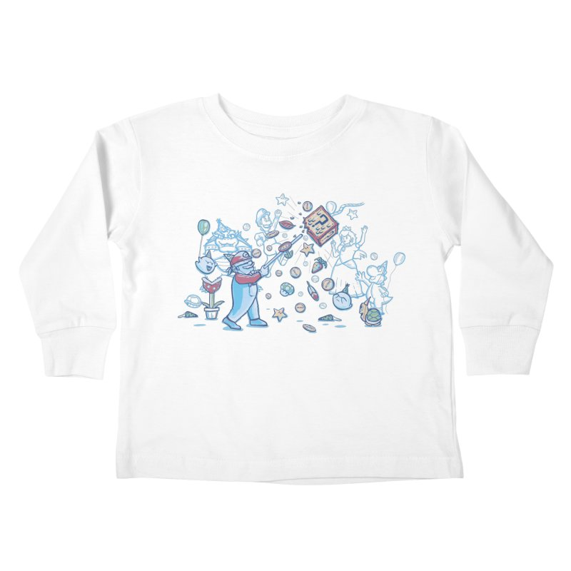 Mario Party Kids Toddler Longsleeve T-Shirt by Taylor Rose Makes Art