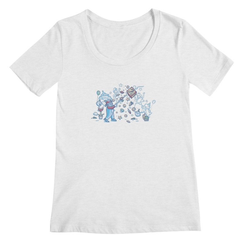 Mario Party Women's Scoopneck by Taylor Rose Makes Art
