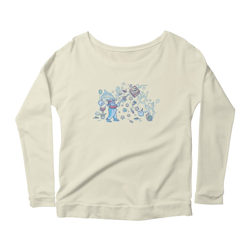 Mario Party Women's Longsleeve Scoopneck  by Taylor Rose Makes Art