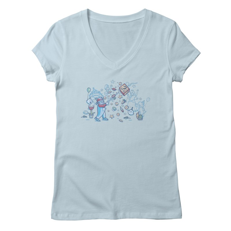 Mario Party Women's V-Neck by Taylor Rose Makes Art