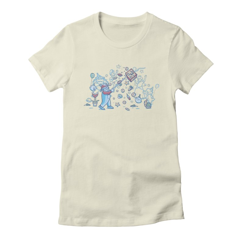 Mario Party Women's Fitted T-Shirt by Taylor Rose Makes Art