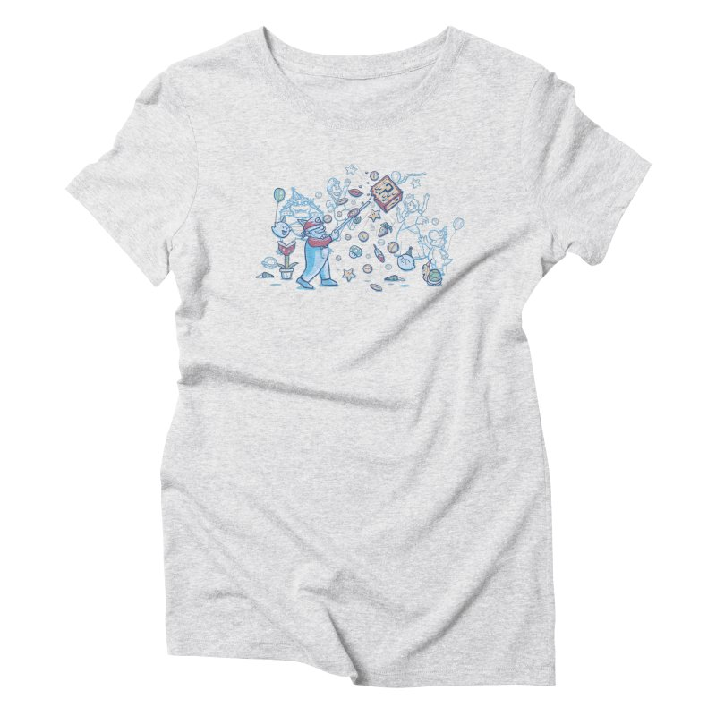 Mario Party Women's Triblend T-Shirt by Taylor Rose Makes Art