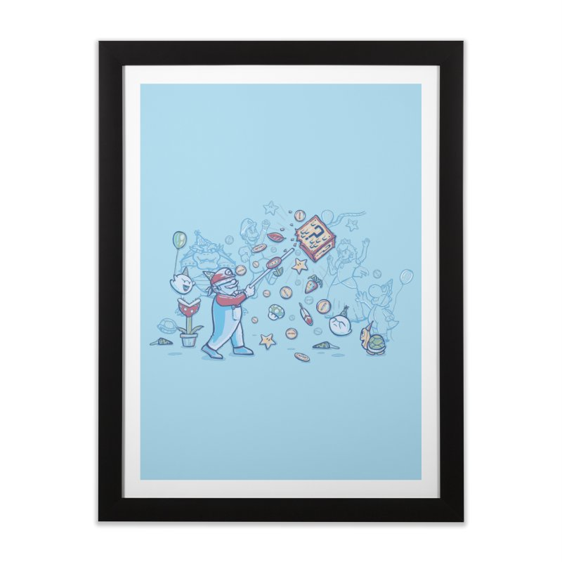 Mario Party Home Framed Fine Art Print by Taylor Rose Makes Art
