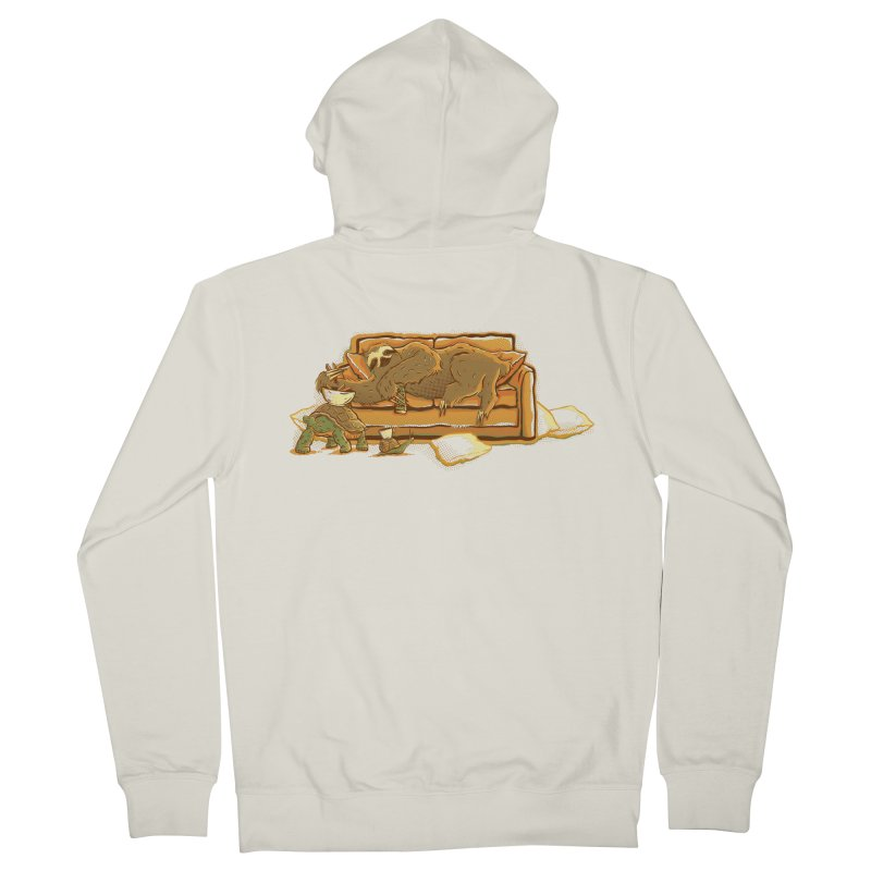 Slow Party Men's Zip-Up Hoody by Taylor Rose Makes Art