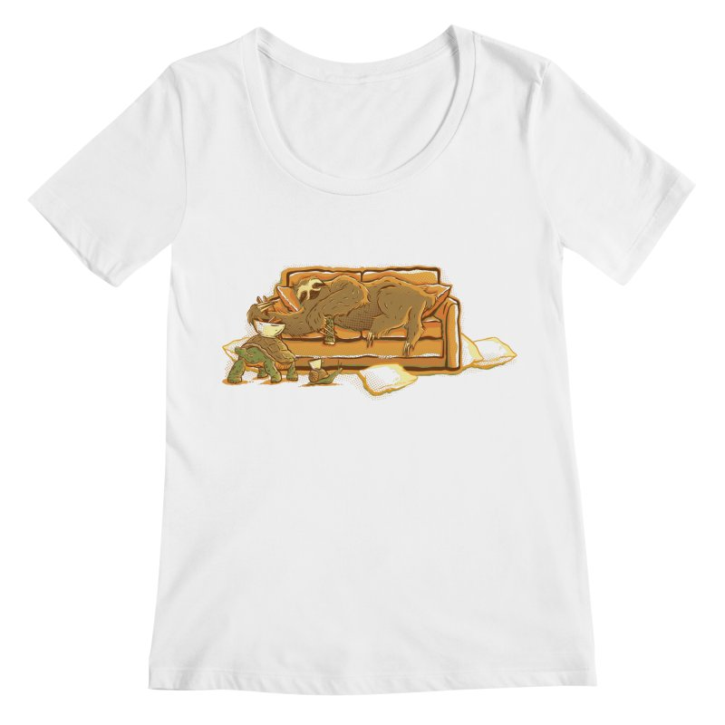 Slow Party Women's Scoopneck by Taylor Rose Makes Art