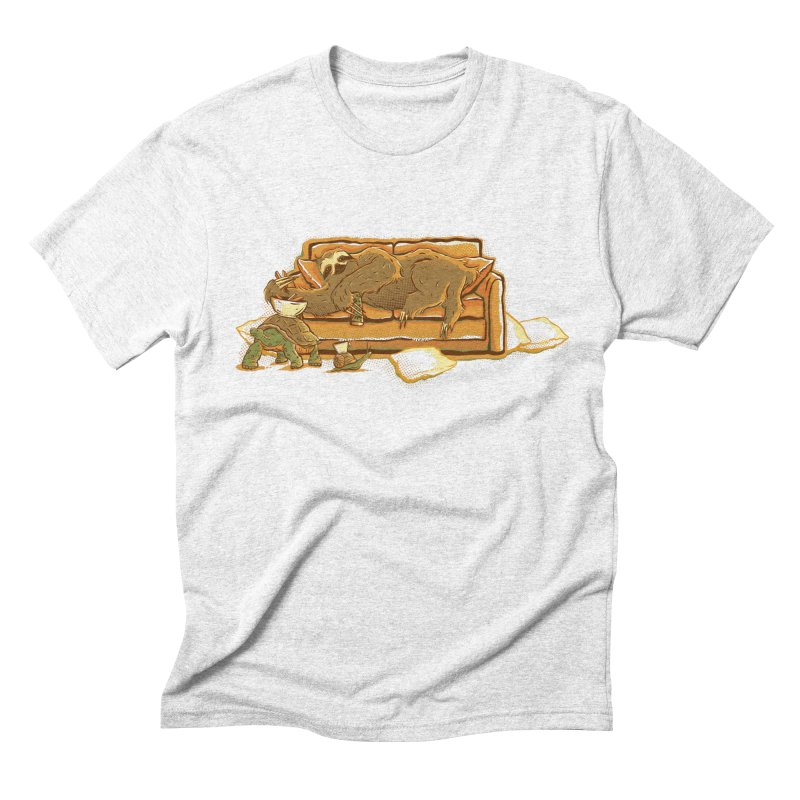 Slow Party Men's Triblend T-shirt by Taylor Rose Makes Art