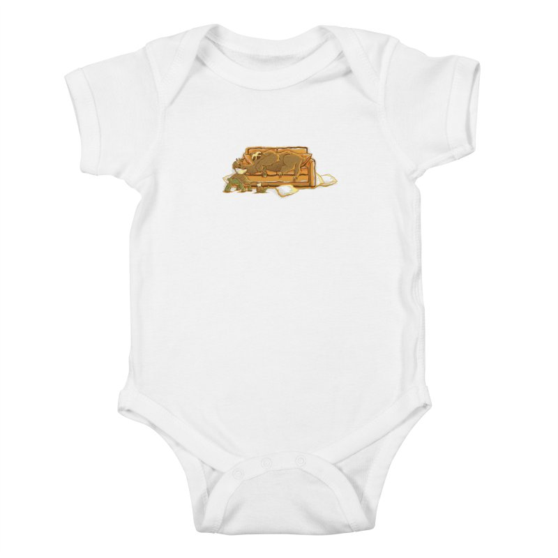 Slow Party Kids Baby Bodysuit by Taylor Rose Makes Art