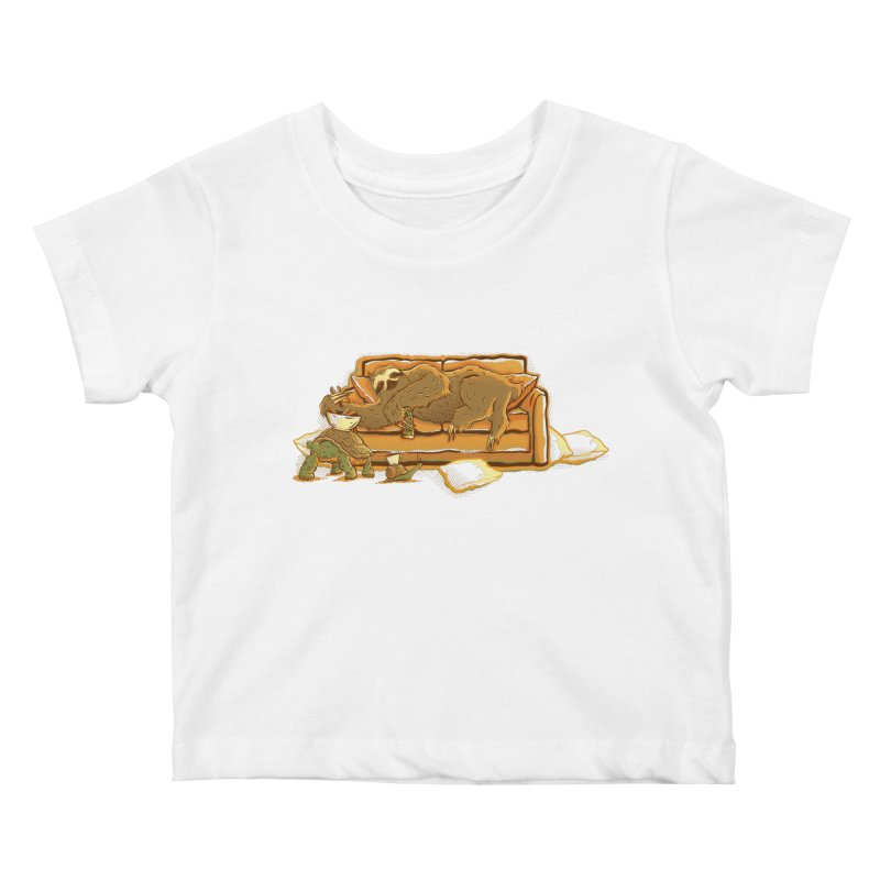 Slow Party Kids Baby T-Shirt by Taylor Rose Makes Art