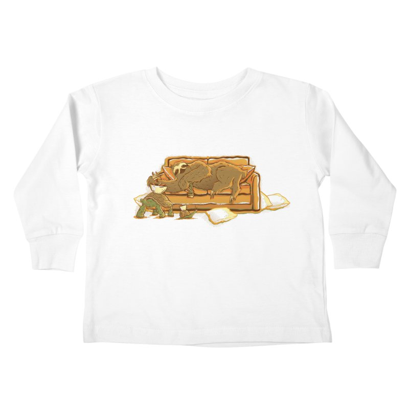 Slow Party Kids Toddler Longsleeve T-Shirt by Taylor Rose Makes Art