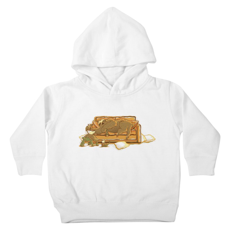 Slow Party Kids Toddler Pullover Hoody by Taylor Rose Makes Art