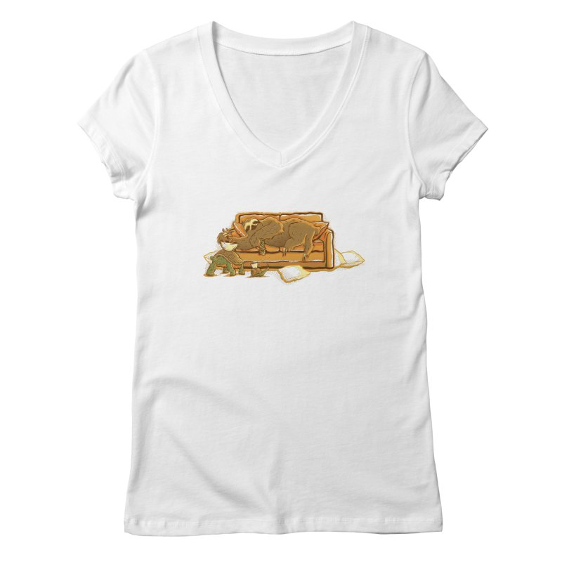 Slow Party Women's V-Neck by Taylor Rose Makes Art