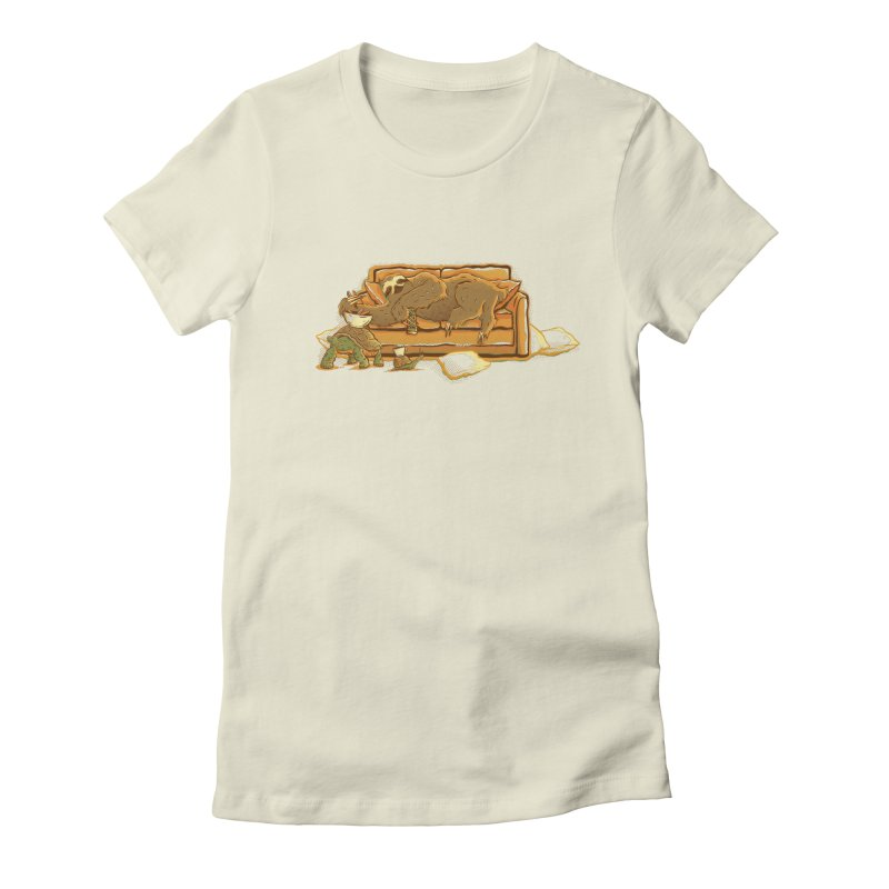 Slow Party Women's Fitted T-Shirt by Taylor Rose Makes Art