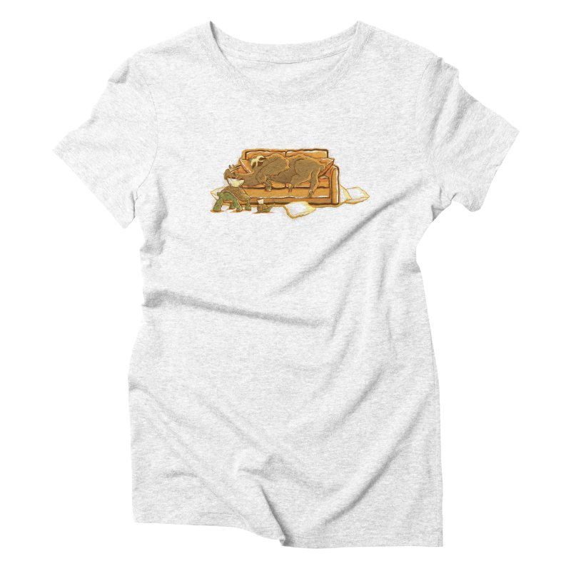 Slow Party Women's Triblend T-shirt by Taylor Rose Makes Art