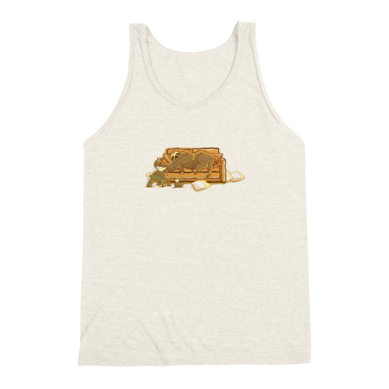 Slow Party Men's Triblend Tank by Taylor Rose Makes Art