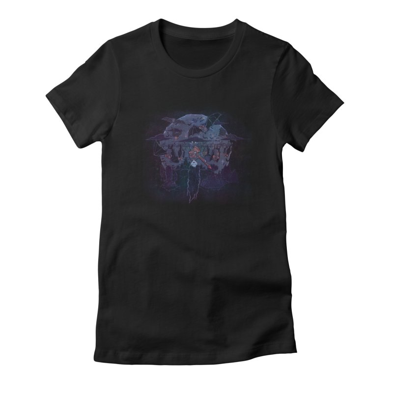 Vampire Jams Women's Fitted T-Shirt by Taylor Rose Makes Art
