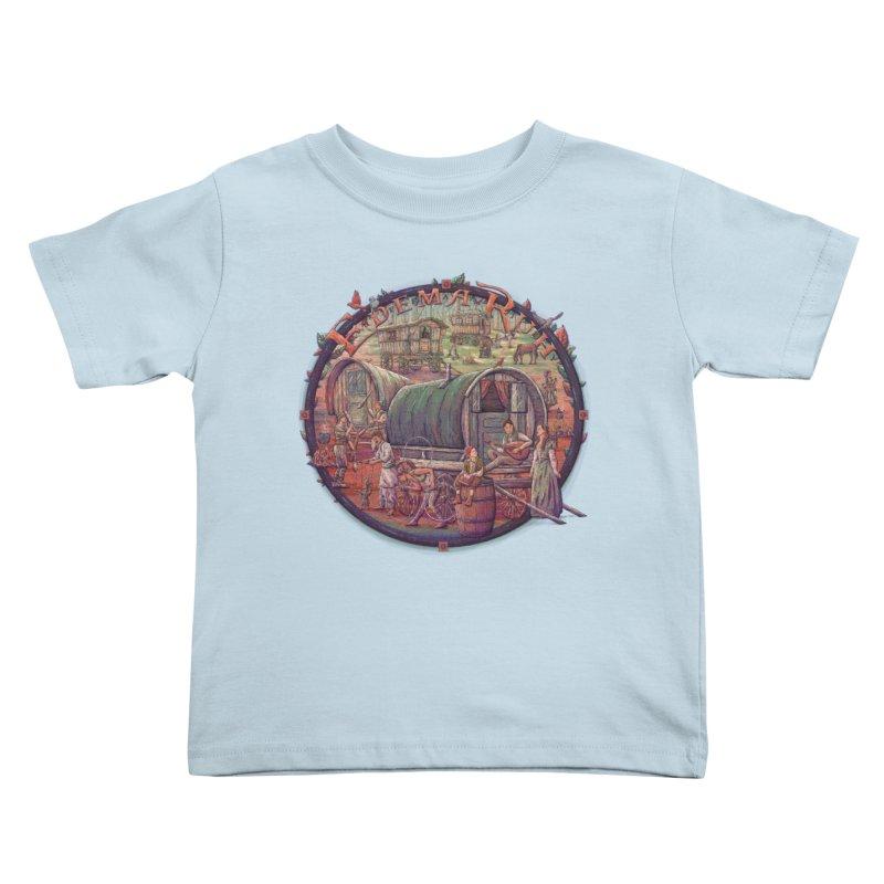 Edema Ruh Kids Toddler T-Shirt by Taylor Rose Makes Art