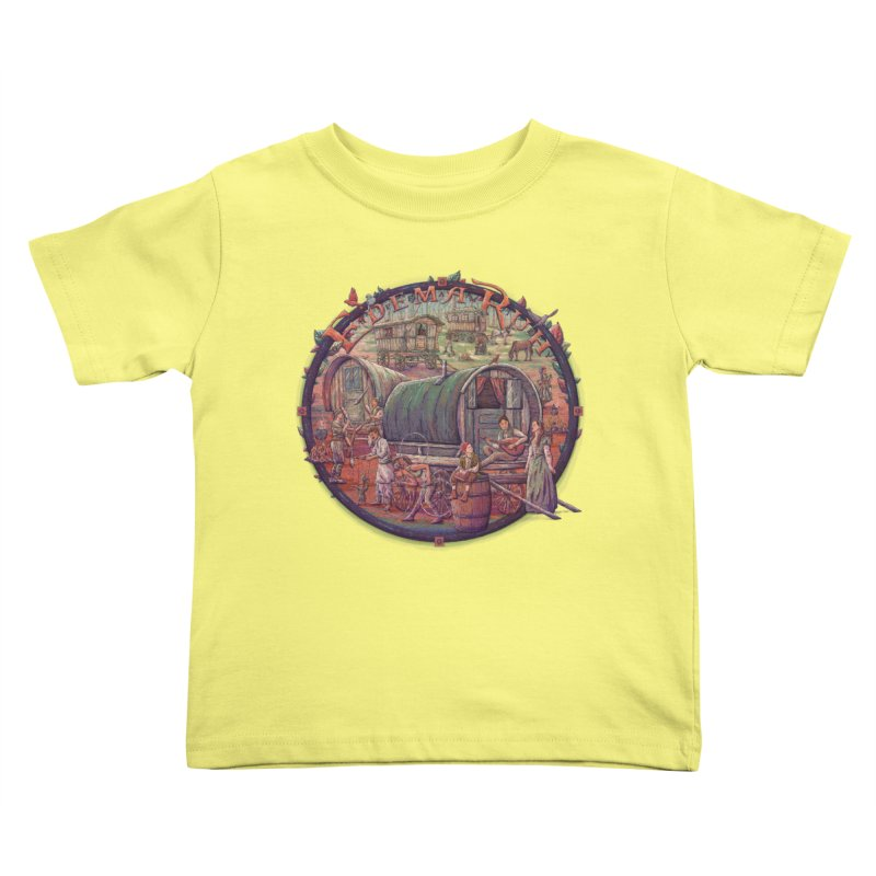 Edema Ruh Kids Toddler T-Shirt by Taylor Rose Makes Art