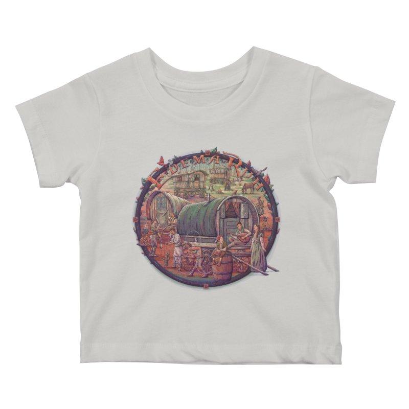 Edema Ruh Kids Baby T-Shirt by Taylor Rose Makes Art