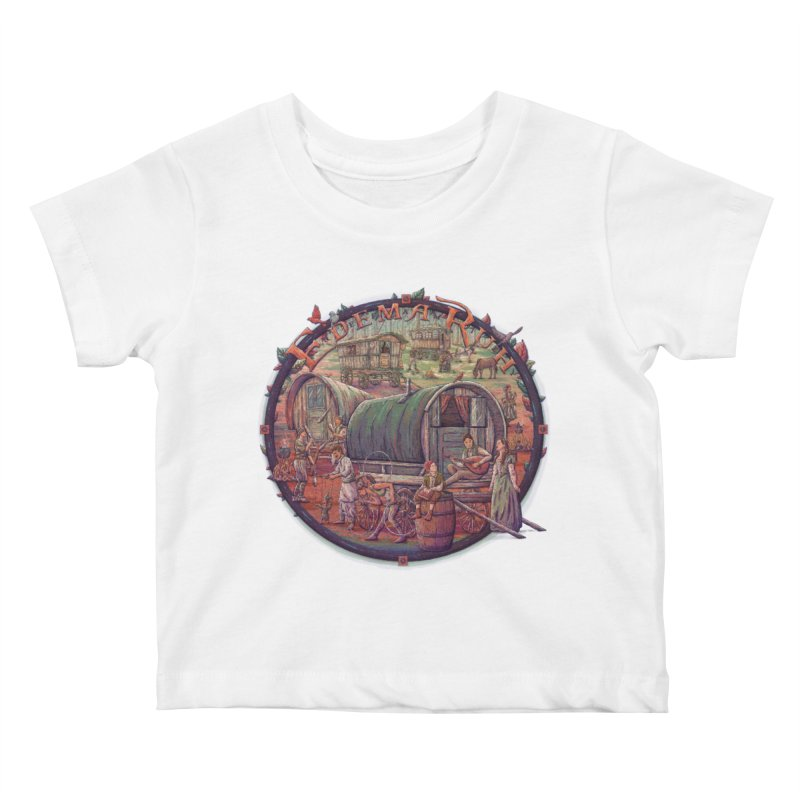 Edema Ruh Kids Baby T-Shirt by Taylor Rose Makes Art