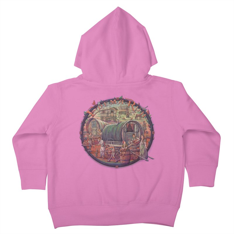 Edema Ruh Kids Toddler Zip-Up Hoody by Taylor Rose Makes Art