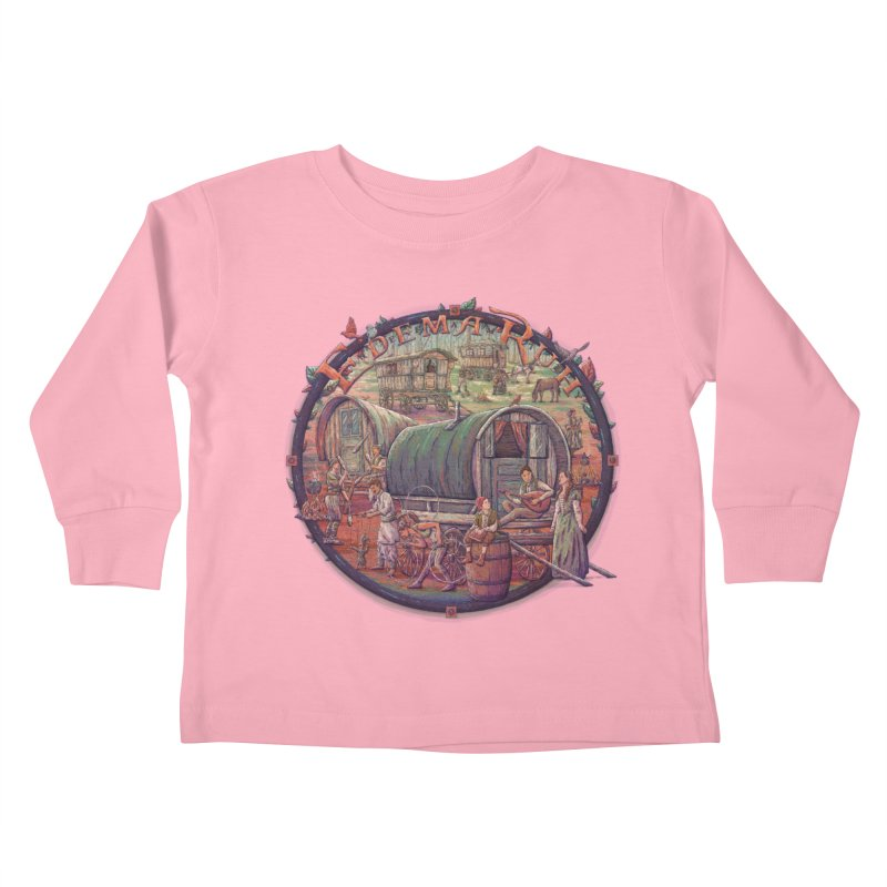 Edema Ruh Kids Toddler Longsleeve T-Shirt by Taylor Rose Makes Art
