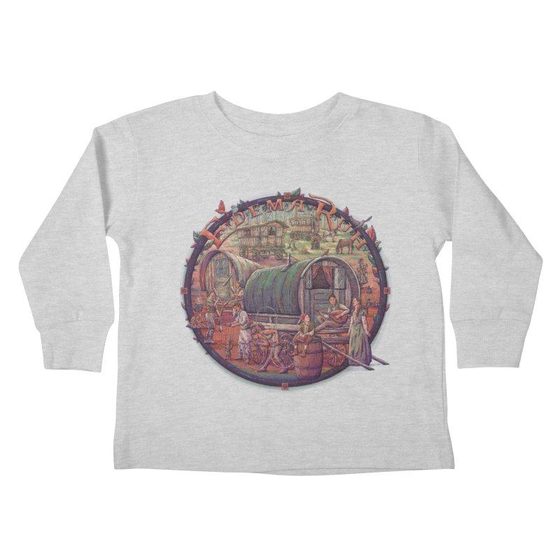 Edema Ruh Kids Toddler Longsleeve T-Shirt by Taylor Rose Makes Art
